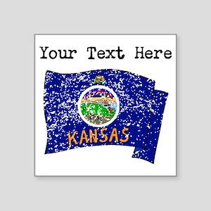Kansas State Flag (Distressed) Sticker