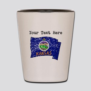 Kansas State Flag (Distressed) Shot Glass