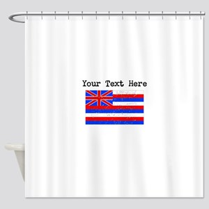 Hawaii State Flag (Distressed) Shower Curtain