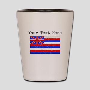 Hawaii State Flag (Distressed) Shot Glass