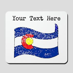 Colorado State Flag (Distressed) Mousepad