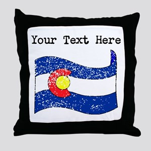 Colorado State Flag (Distressed) Throw Pillow