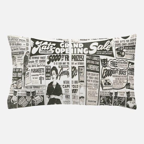 Vintage News Pillow Case