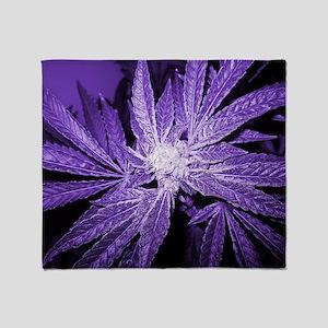 Purple Cannabis Throw Blanket