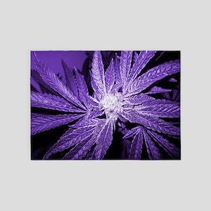 Purple Cannabis 5'x7'Area Rug