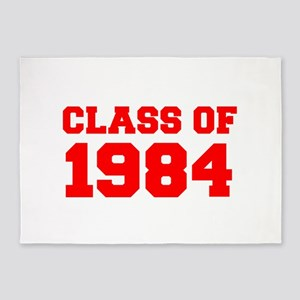 CLASS OF 1984-Fre red 300 5'x7'Area Rug