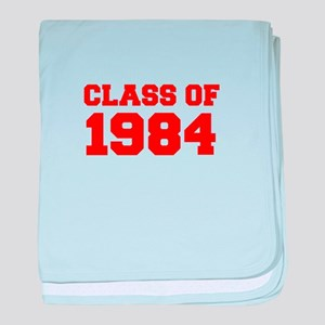 CLASS OF 1984-Fre red 300 baby blanket