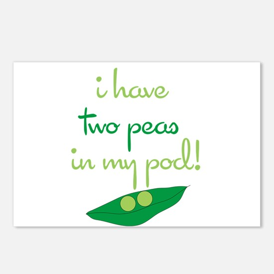 2 Peas in My Pod Postcards (Package of 8)