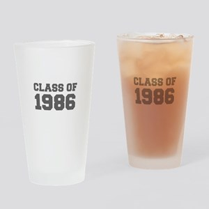 CLASS OF 1986-Fre gray 300 Drinking Glass
