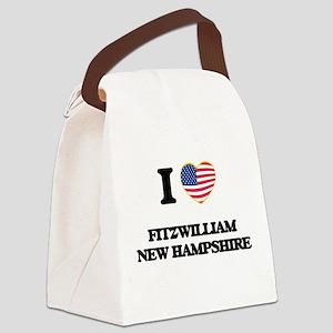 I love Fitzwilliam New Hampshire Canvas Lunch Bag