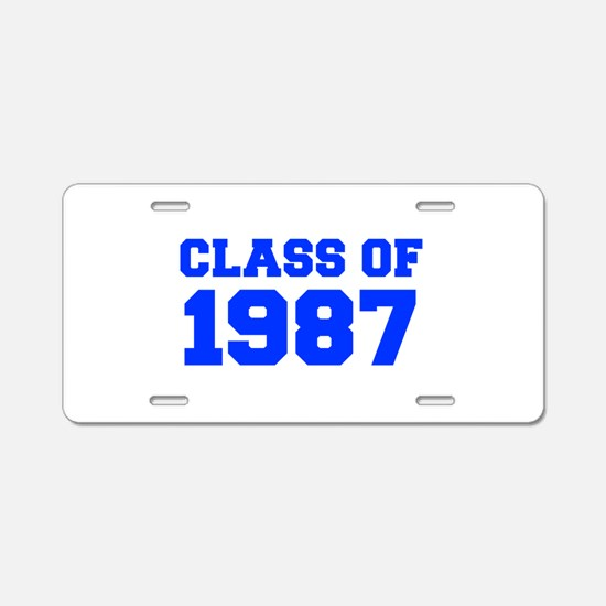 CLASS OF 1987-Fre blue 300 Aluminum License Plate