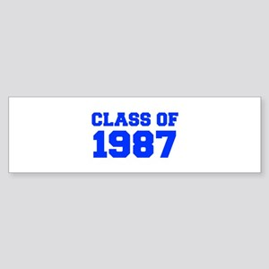 CLASS OF 1987-Fre blue 300 Bumper Sticker