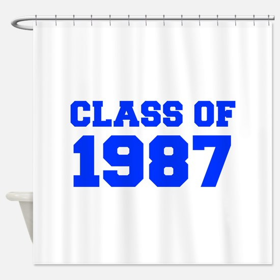 CLASS OF 1987-Fre blue 300 Shower Curtain