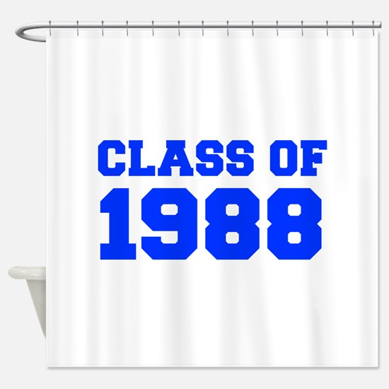 CLASS OF 1988-Fre blue 300 Shower Curtain