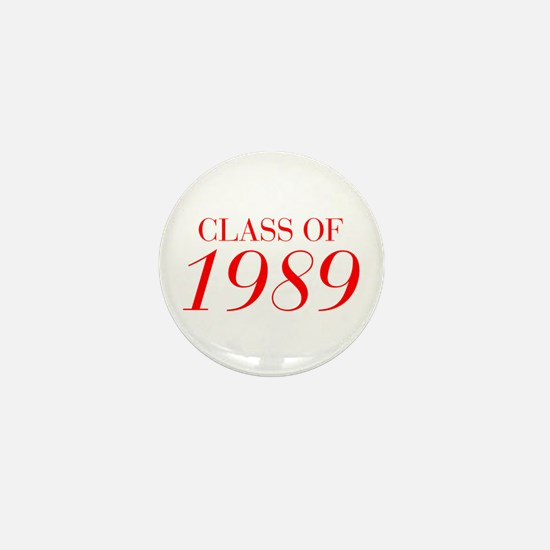 CLASS OF 1989-Bau red 501 Mini Button