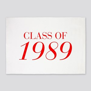 CLASS OF 1989-Bau red 501 5'x7'Area Rug