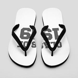 CLASS OF 1989-Fre gray 300 Flip Flops