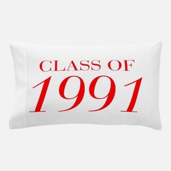 CLASS OF 1991-Bau red 501 Pillow Case
