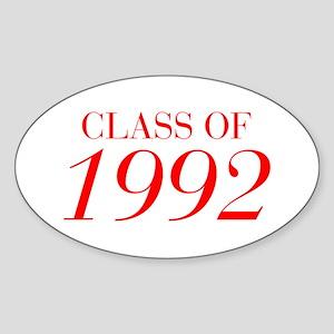 CLASS OF 1992-Bau red 501 Sticker