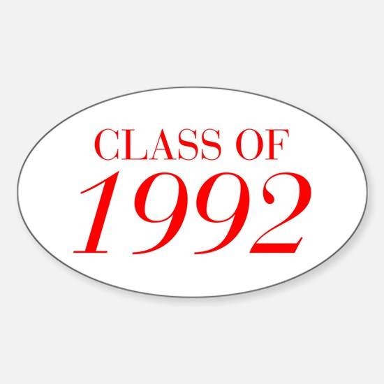 CLASS OF 1992-Bau red 501 Decal
