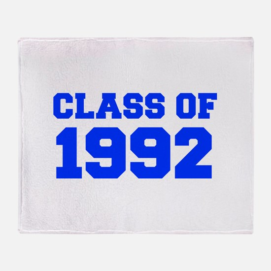 CLASS OF 1992-Fre blue 300 Throw Blanket