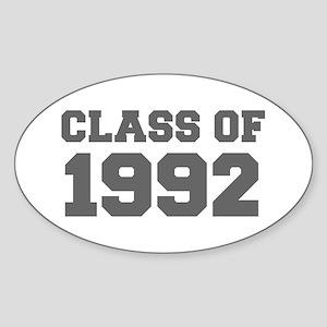 CLASS OF 1992-Fre gray 300 Sticker