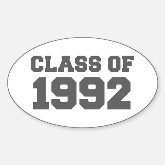 CLASS OF 1992-Fre gray 300 Decal
