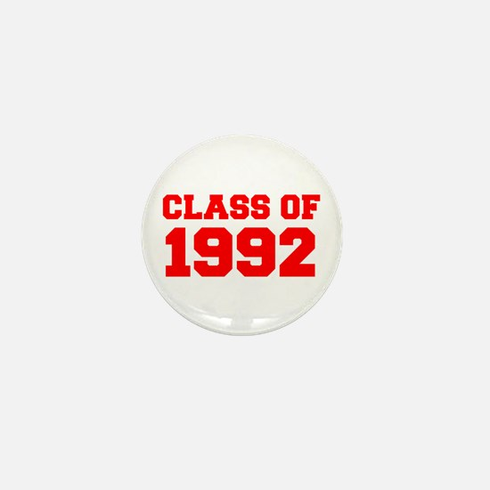 CLASS OF 1992-Fre red 300 Mini Button