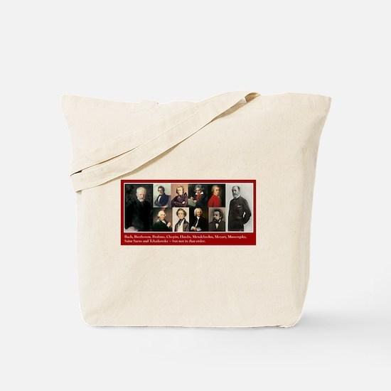 Cute Chopin Tote Bag