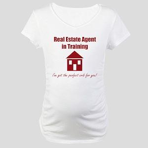 Real Estate Agent in Traini Maternity T-Shirt