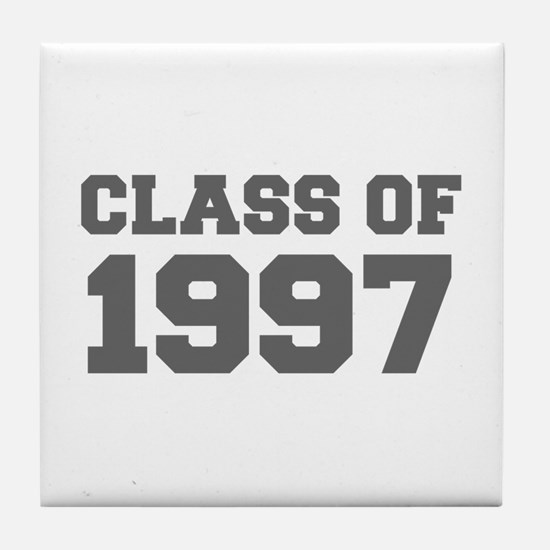 CLASS OF 1997-Fre gray 300 Tile Coaster