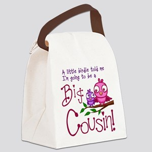I'm going to be a Big Cousin! Canvas Lunch Bag
