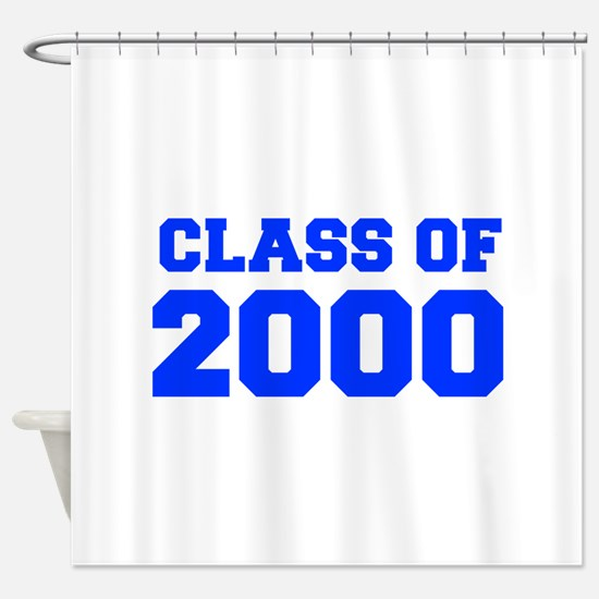 CLASS OF 2000-Fre blue 300 Shower Curtain