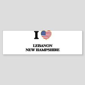 I love Lebanon New Hampshire Bumper Sticker