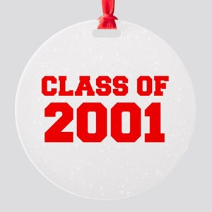 CLASS OF 2001-Fre red 300 Ornament
