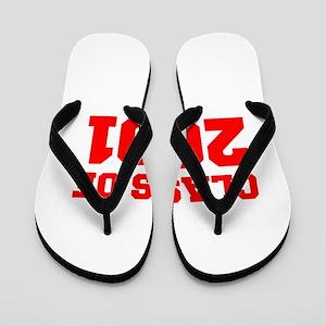 CLASS OF 2001-Fre red 300 Flip Flops