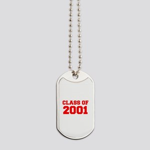 CLASS OF 2001-Fre red 300 Dog Tags