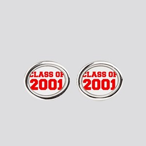 CLASS OF 2001-Fre red 300 Oval Cufflinks