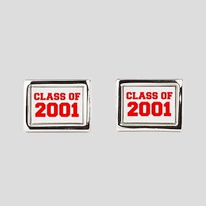 CLASS OF 2001-Fre red 300 Rectangular Cufflinks