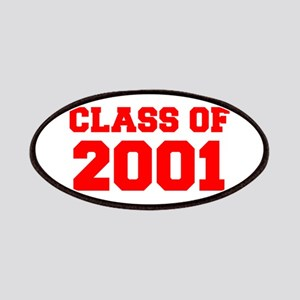 CLASS OF 2001-Fre red 300 Patch