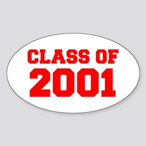 CLASS OF 2001-Fre red 300 Sticker