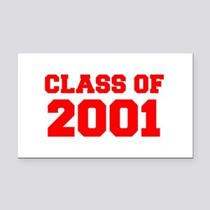 CLASS OF 2001-Fre red 300 Rectangle Car Magnet