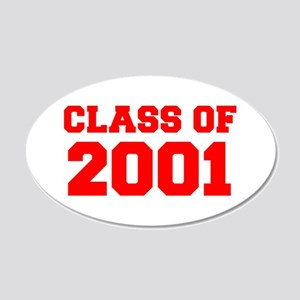 CLASS OF 2001-Fre red 300 Wall Decal