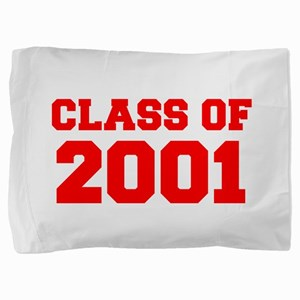 CLASS OF 2001-Fre red 300 Pillow Sham