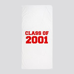 CLASS OF 2001-Fre red 300 Beach Towel