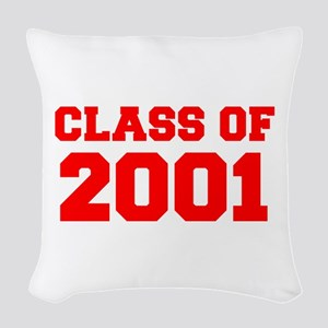 CLASS OF 2001-Fre red 300 Woven Throw Pillow