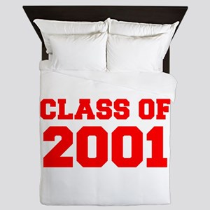 CLASS OF 2001-Fre red 300 Queen Duvet