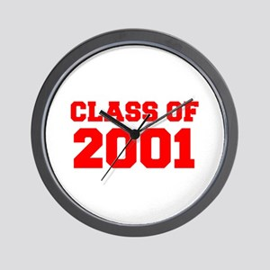 CLASS OF 2001-Fre red 300 Wall Clock