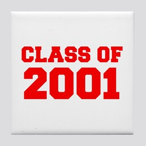 CLASS OF 2001-Fre red 300 Tile Coaster