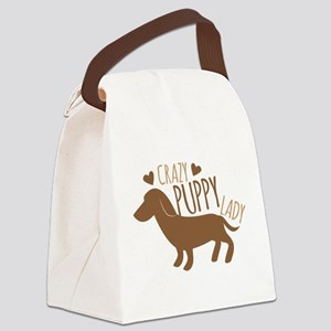 Crazy Puppy Lady Canvas Lunch Bag